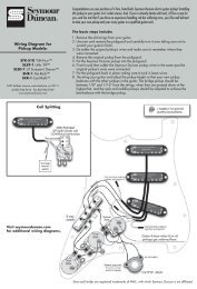 Wiring Diagram for Pickup Models ... - Seymour Duncan