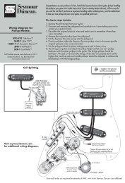 Wiring Diagram for Pickup Models ... - Seymour Duncan