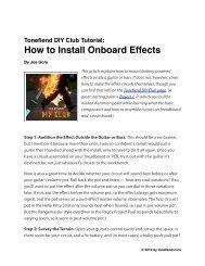 Onboard Effects Tutorial - Seymour Duncan
