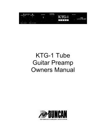84-50 TUBE AMPLIFIER SEYMOUR DUNCAN OWNER'S MANUAL