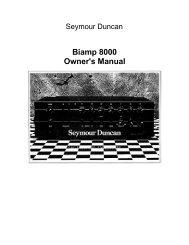 Biamp 8000 Owner's Manual - Seymour Duncan