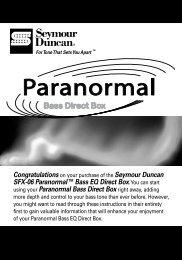 Manual - Seymour Duncan
