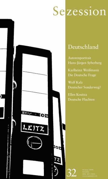 Heft 32, Oktober 2009, Themenheft: Deutschland - Sezession im Netz