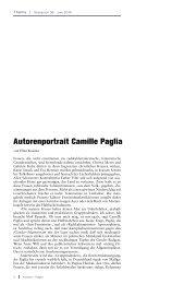 Autorenportrait Camille Paglia