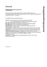 Ausschreibungsempfehlung Florwand (PDF 23KB) - SF-Kooperation ...