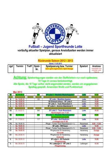 Jugendspielplan _13052013 - Sportfreunde Lotte