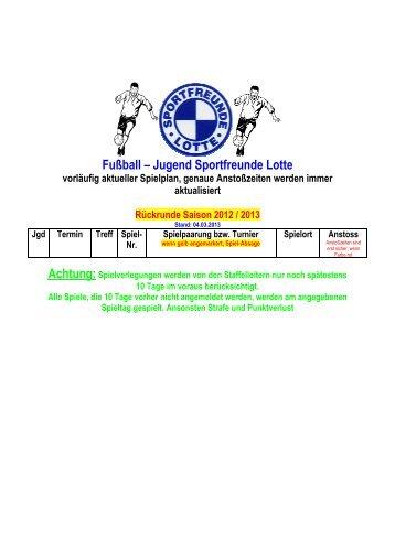 Jugendspielplan _04032013 - Sportfreunde Lotte