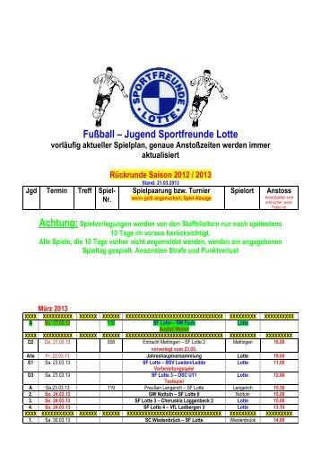 Jugendspielplan _3 - Sportfreunde Lotte