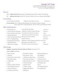 Carolyn Conn Curriculum Vitae - Stephen F. Austin State University
