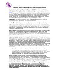 banner privacy & security compliance statement - Stephen F. Austin ...