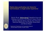 Radial artery-perforating vein fistula - SFAV