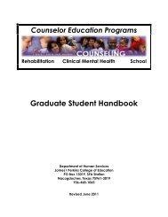 Graduate Student Handbook - Stephen F. Austin State University