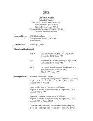 VITA - Stephen F. Austin State University