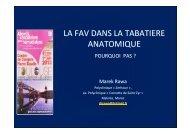 LA FAV RADIALE DANS LA TABATIERE ANATOMIQUE (2 ... - SFAV