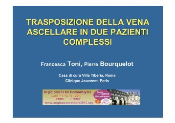 W15e Toni Trasposizione vena ascellare 2.ppt [Lecture seule] - SFAV