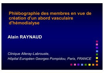 04 Raynaud Phlébographie.ppt [Lecture seule] - SFAV
