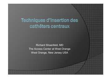 Insertion des cathéters centraux.pptx - SFAV