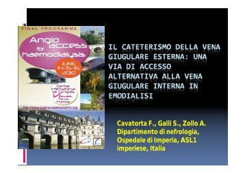 W15i Cavatorta VENA GIUGULARE ESTERNA.ppt [Lecture ... - SFAV