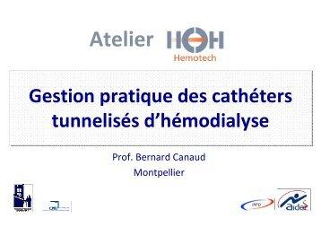 051 Gestion pratique des cathéters tunnelisés d ... - SFAV