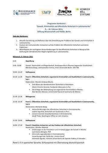 Programm zur Konferenz