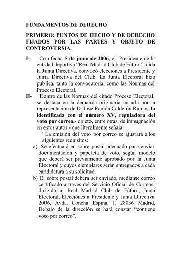 FUNDAMENTOS DE DERECHO PRIMERO: PUNTOS DE ... - Iusport