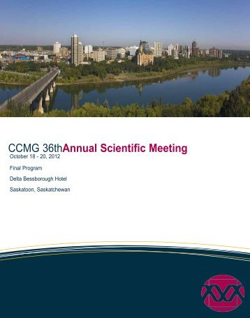 CCMG 36thAnnual Scientific Meeting - Canadian College of Medical ...
