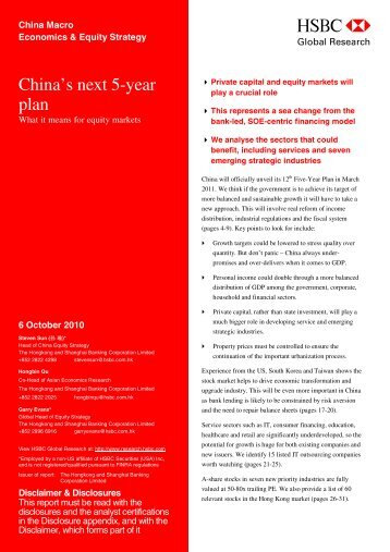 China's next 5-year plan-What it means for equity markets