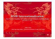 HSBC RMB Internationalization - French Chamber of Commerce ...
