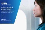 Global Reach Of China Luxury