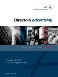 Directory advertising - French Chamber of Commerce and Industry ...
