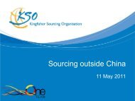 Sourcing outside China