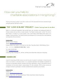 How can you help to charitable associations in Hong Kong?
