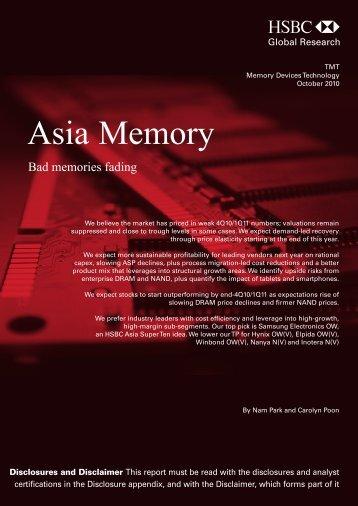 Asia Memory-Bad memories fading
