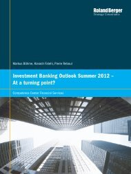 Investment Banking Outlook Summer 2012 – At a turning point?