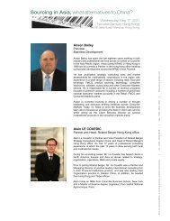 Sourcing in Asia, what alternatives to China? - French Chamber of ...