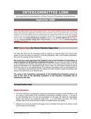 Committees newsletter September 2008b - French Chamber of ...
