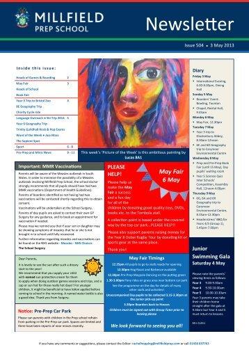 3 May - Millfield Prep School