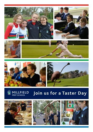 Join us for a Taster Day - Millfield Prep School