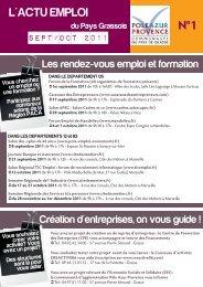 L'ACTU EMPLOI N°1 - Pôle Azur Provence