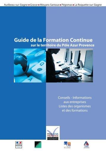 Guide de la Formation Continue - Pôle Azur Provence