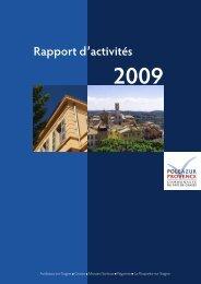 Rapport d'activités 2009 - Pôle Azur Provence