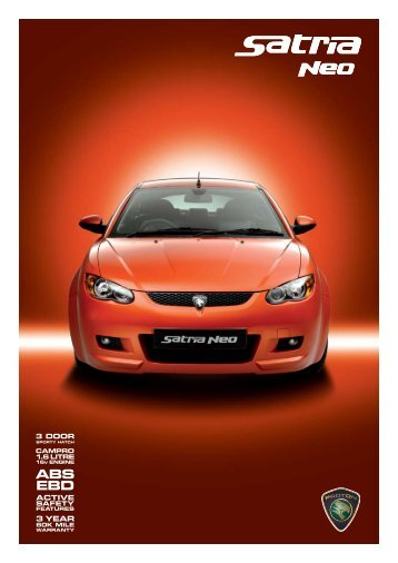 to download Satria Neo brochure - Proton Cars UK