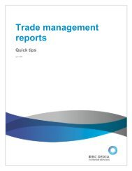 Trade Management Reports - Global Market Information