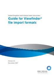 Client Guide - Viewfinder File Import.pdf - Global Market Information