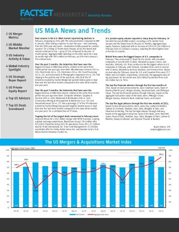 US M&A News and Trends - Compliance Week