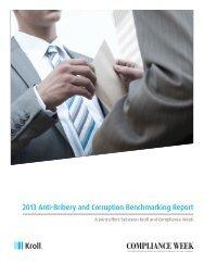 Anti-Bribery and Corruption Benchmarking Report 2013