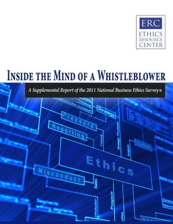 Inside the Mind of a Whistleblower - Ethics Resource Center