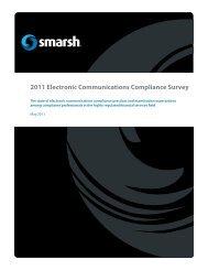 2011 Electronic Communications Compliance Survey