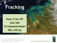 Fracking - Environmental Defender's Office Western Australia