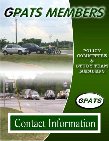 2012 GPATS MEMBERS CONTACT CATALOG ... - Greenville County